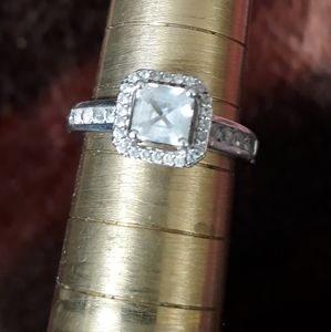 Ladies Cz .925sterling silver engagement ring